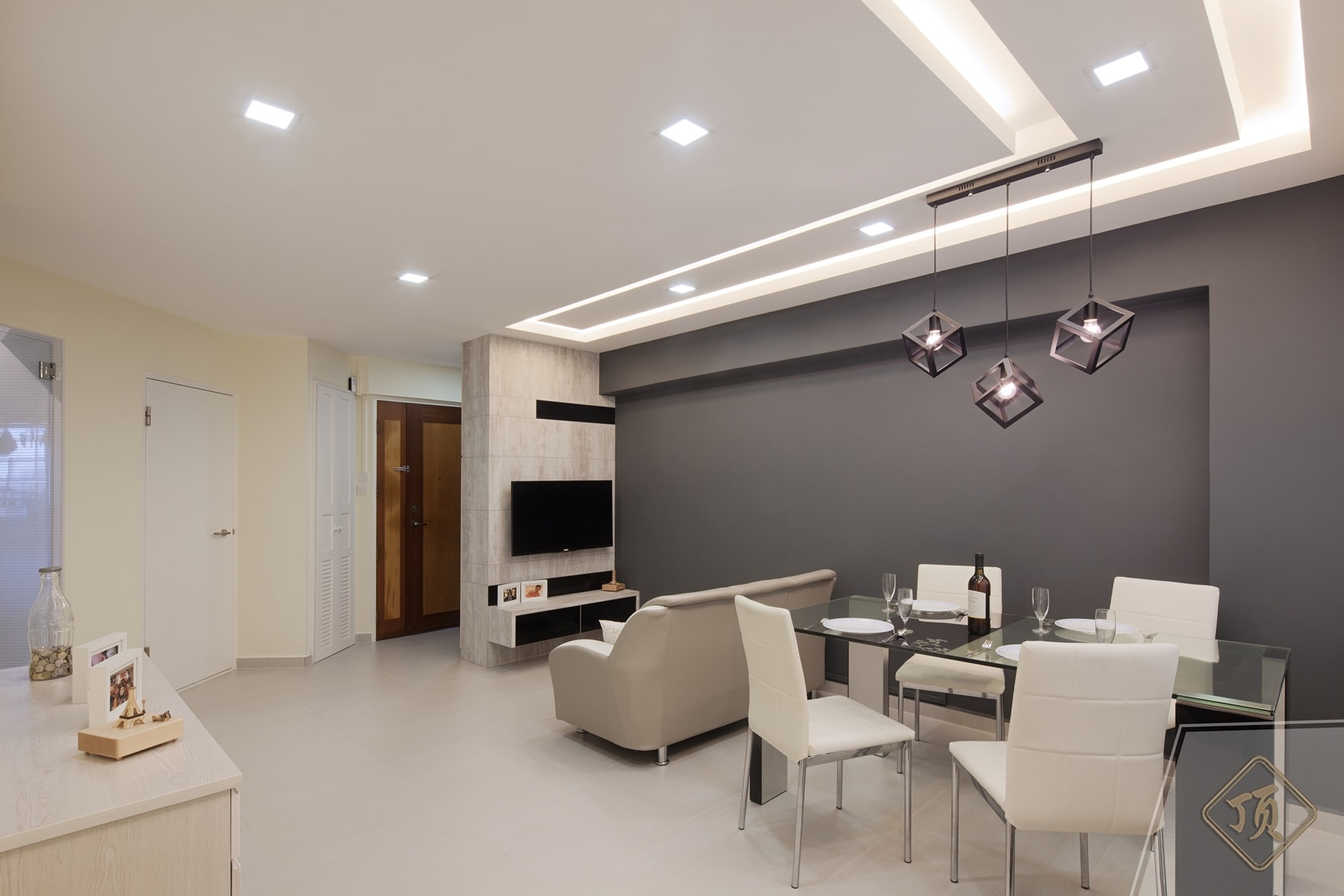 modern home interior design and house decorators in singapore