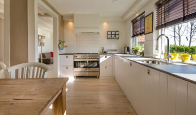 Kitchen and Storage Space